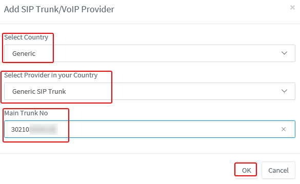 3cx add provider settings