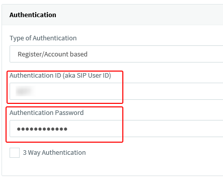 3cx authentication Settings