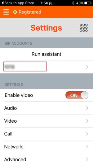 Linphone Account Settings