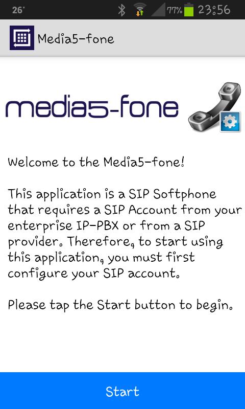 media5 home screen